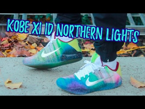 competitive price b4c92 4b1a2 Nike Kobe XI ID Northern Lights ON FEET! - YouTube