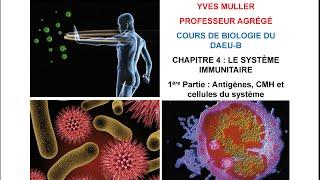Chapitre 4 - 1ère Partie : Antigènes, CMH et cellules du système immunitaire - Cours de Biologie