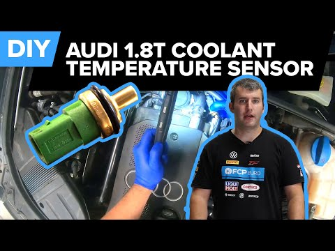 How To Replace The Coolant Temperature Sensor On An Audi A4 B6 1.8t (A4, A6, Golf, Passat, & More)