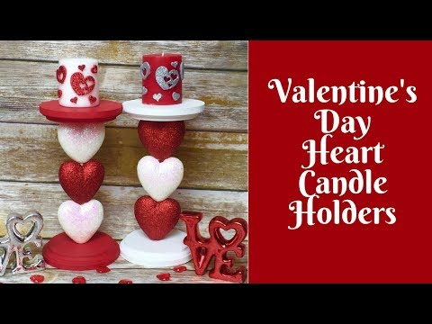 Valentine's Day Crafts: Heart Candle Holders