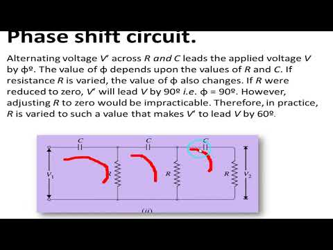 Phase shift oscillator frequency derivation