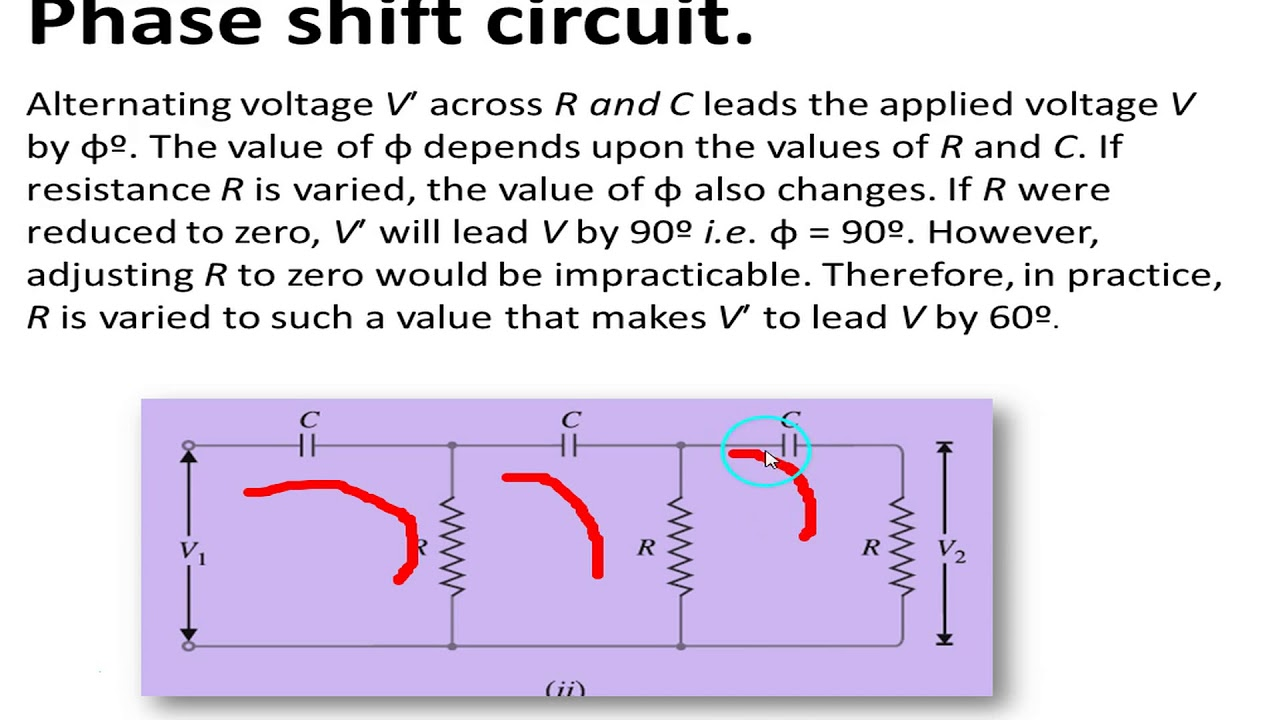 Phase Shift Oscillator Frequency Derivation Youtube Circuit Explanation Using Opamp Transistor