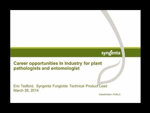 Career Opportunities in Industry for Plant Pathologists and Entomologists