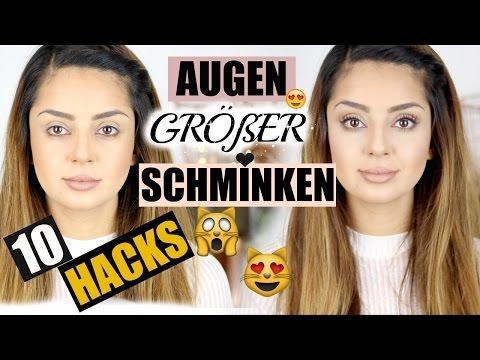 10 HACKS I AUGEN GRÖßER SCHMINKEN I NATÜRLICHES AMU