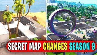 ALL *NEW* SECRET MAP CHANGES! SEASON 9 FORTNITE (so many)