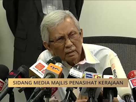 Sidang media Majlis Penasihat Kerajaan, Tun Daim Zainuddin
