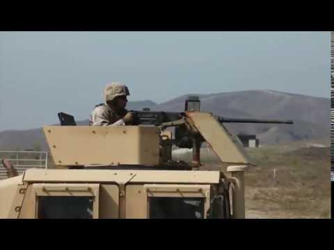 Firing Humvee .50 Cal - Marines at Camp Pendleton - YouTube