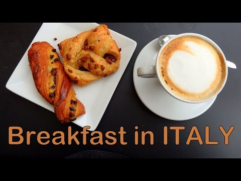 Italian Breakfast in Milan, Italy