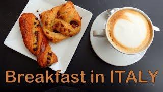 Italian Breakfast In Milan, Italy