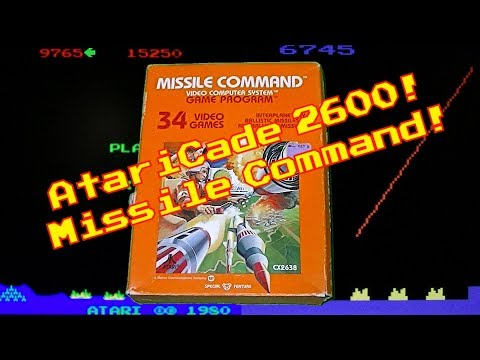 AtariCade 2600 Missile Command!
