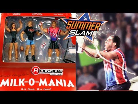 WWE Epic Moments MILK-O-MANIA Wrestling Figure Unboxing! Stone Cold, Kurt Angle, Stephanie McMahon thumbnail