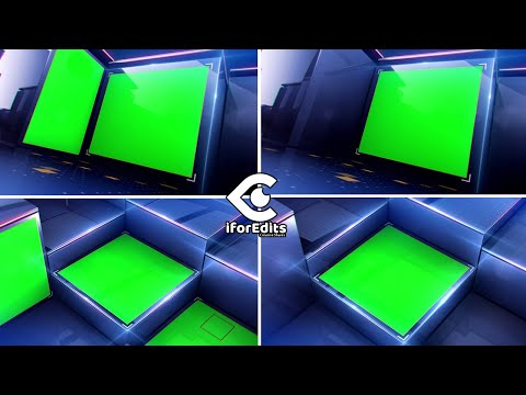3D Glass Box News Intro with Green Screen with Two Options | FREE TO USE | iforEdits