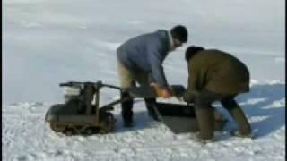 микро снегоход для рыбаков
