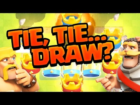 TIE, TIE, DRAW! Clash Royale Crazy Battles!