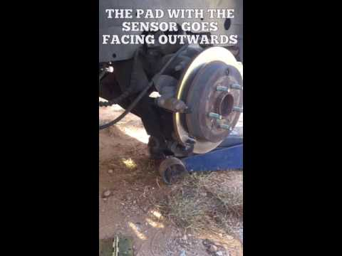 Replacing rear brakes on a 2005 Buick Rendezvous