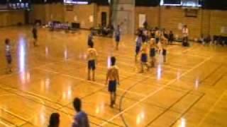 福岡県学生ハンドボール新人戦・男子・福岡大学vs福岡教育大学