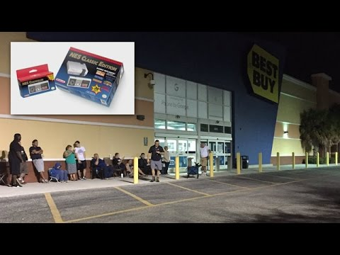 Shoppers Line Up To Purchase NES Classic At Best Buy