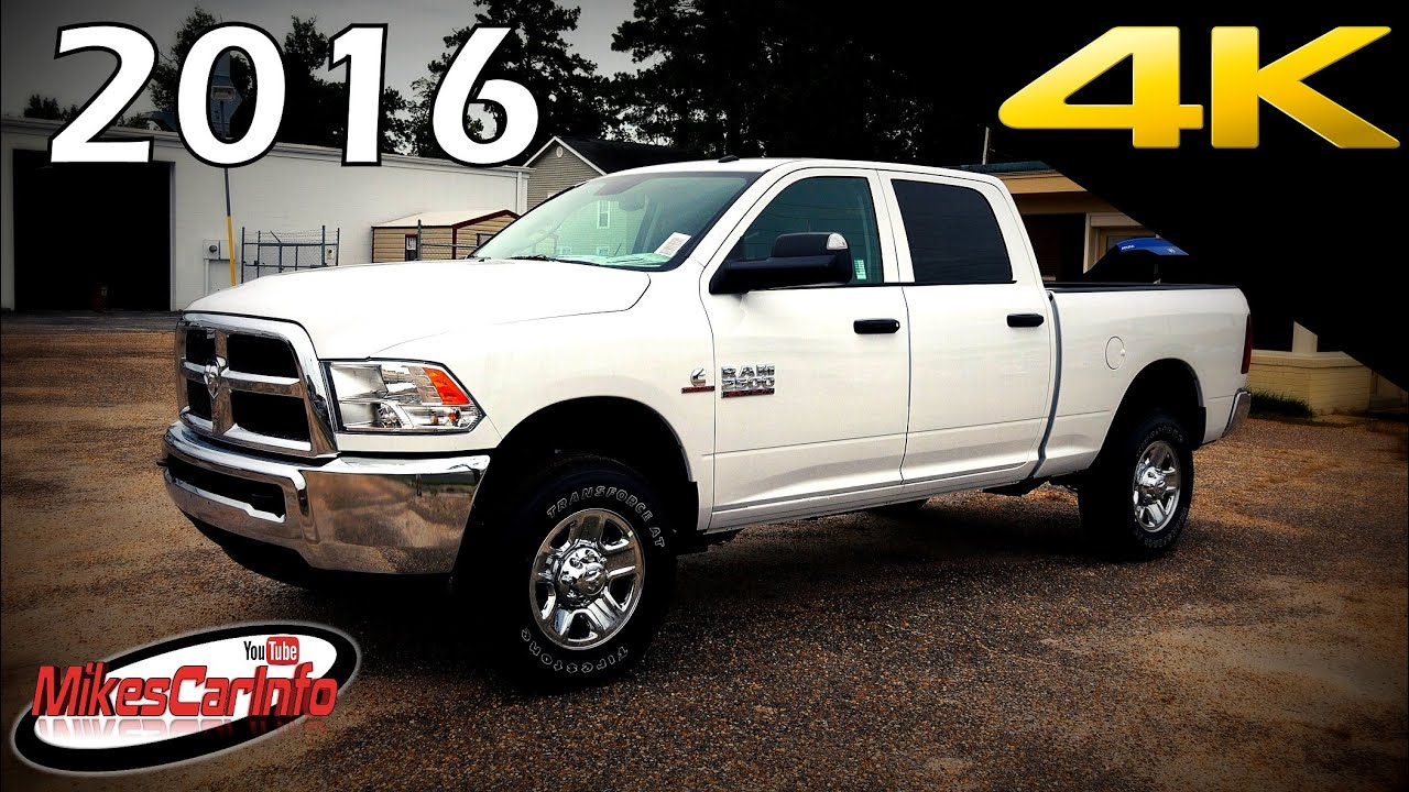 2016 ram 2500 hd tradesman cummins diesel ultimate in depth look in 4k youtube. Black Bedroom Furniture Sets. Home Design Ideas