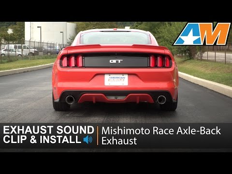 2015-2017 Mustang (GT) Mishimoto Race Axle-Back Exhaust Sound Clip & Install