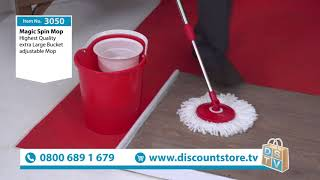 Fantastic Magic Spin Mop & Bucket | Item No. 3050 | Discount Store TV