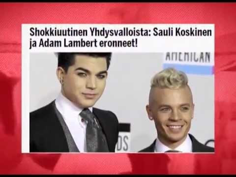 Adam Lambert and Sauli Koskinen breakup - News Block MTV Russia 8.4.13