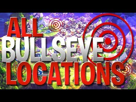 Fortnite Battle Royale ALL Bullseye Locations - Land On Different Bullseyes Challenge