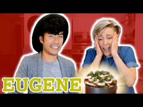 My Drunk Kitchen: Pizza Cake ft. The Try Guys (Part Four... Eugene!)
