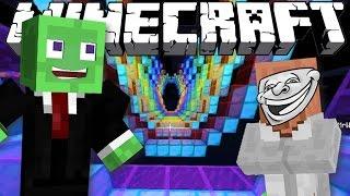 Minecraft | LUNAR SPEED PARKOUR CHALLENGE w/ MrWilliamo (Minecraft Parkour Trolls/Fails)