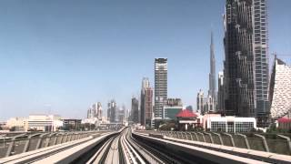 Dubai, UAE - Metro - Burj Khalifa Dubai Mall Station to Noor Islamic Bank Station HD (2011)