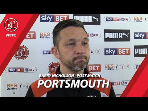 Barry Nicholson after Portsmouth | Post Match