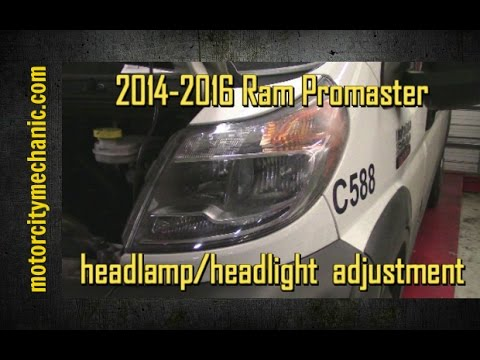 Dodge Ram Promaster >> 2014-2015 Ram Promaster headlamp adjustment - YouTube