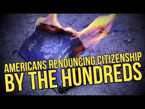 AMERICANS RENOUNCING CITIZENSHIP BY THE HUNDREDS