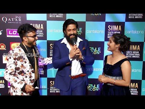 KGF Yash Making Fun At South Indian Award Show | SIIMA 2019