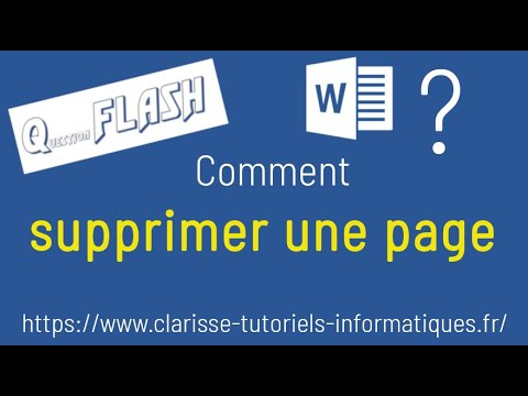 Comment supprimer une page dans un document Word ?