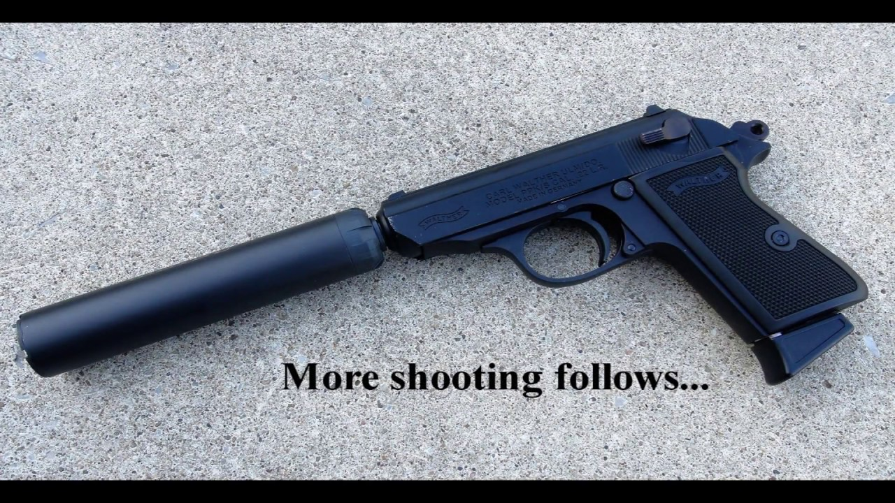walther ppk s 22lr suppressed uswg01 youtube