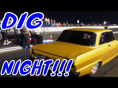 street outlaws BJ flags dig night street race Houston 2019 ls turbo