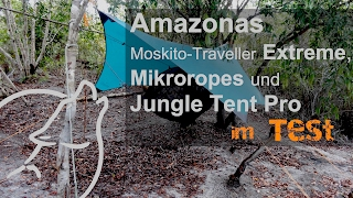 "Hängematte ""Moskito-Traveller Extreme, Microropes, Jungle Tent Pro"" von Amazonas im Test"