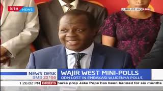Tuju reveals Jubilee, ODM parties consulted over latter\'s pull out in Wajir West by-election