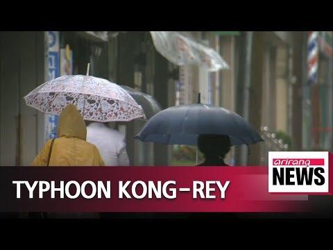Typhoon Kong-rey approaches Korean Peninsula