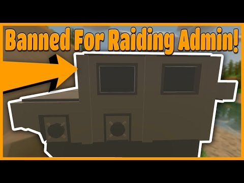 BANNED FROM THE SERVER FOR RAIDING ABUSIVE ADMIN! - Modded Unturned