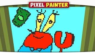 ч.05 Свинка ПЕПА и Мистер Крабс - Minecraft Pixel Painter