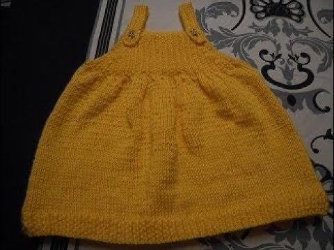 tuto tricot robe 3 mois bebe youtube. Black Bedroom Furniture Sets. Home Design Ideas