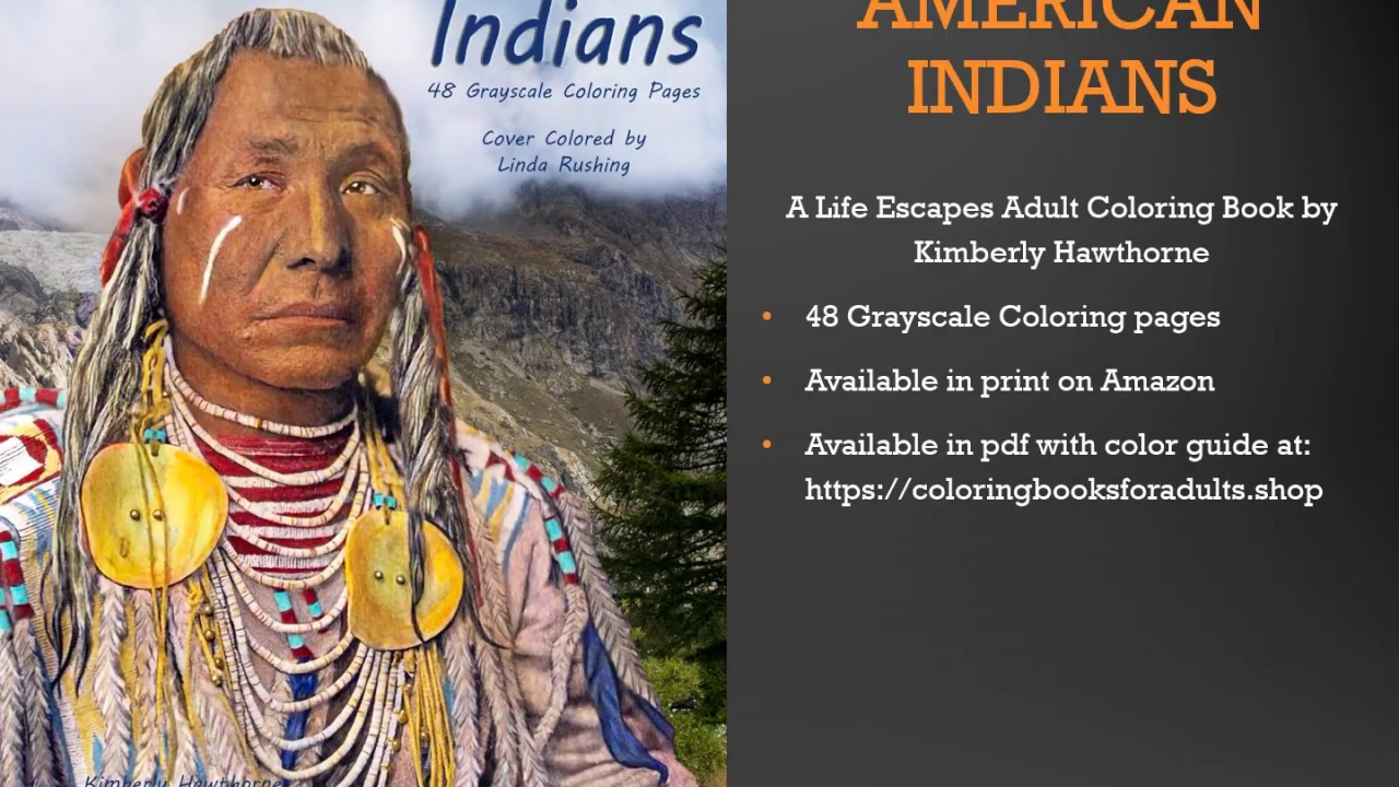 - Native American Indians Adult Coloring Book Flip Thru - YouTube