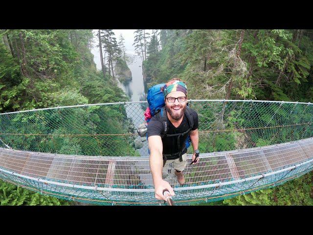 Hiking the Juan de Fuca Marine Trail, Vancouver Island, British Columbia.