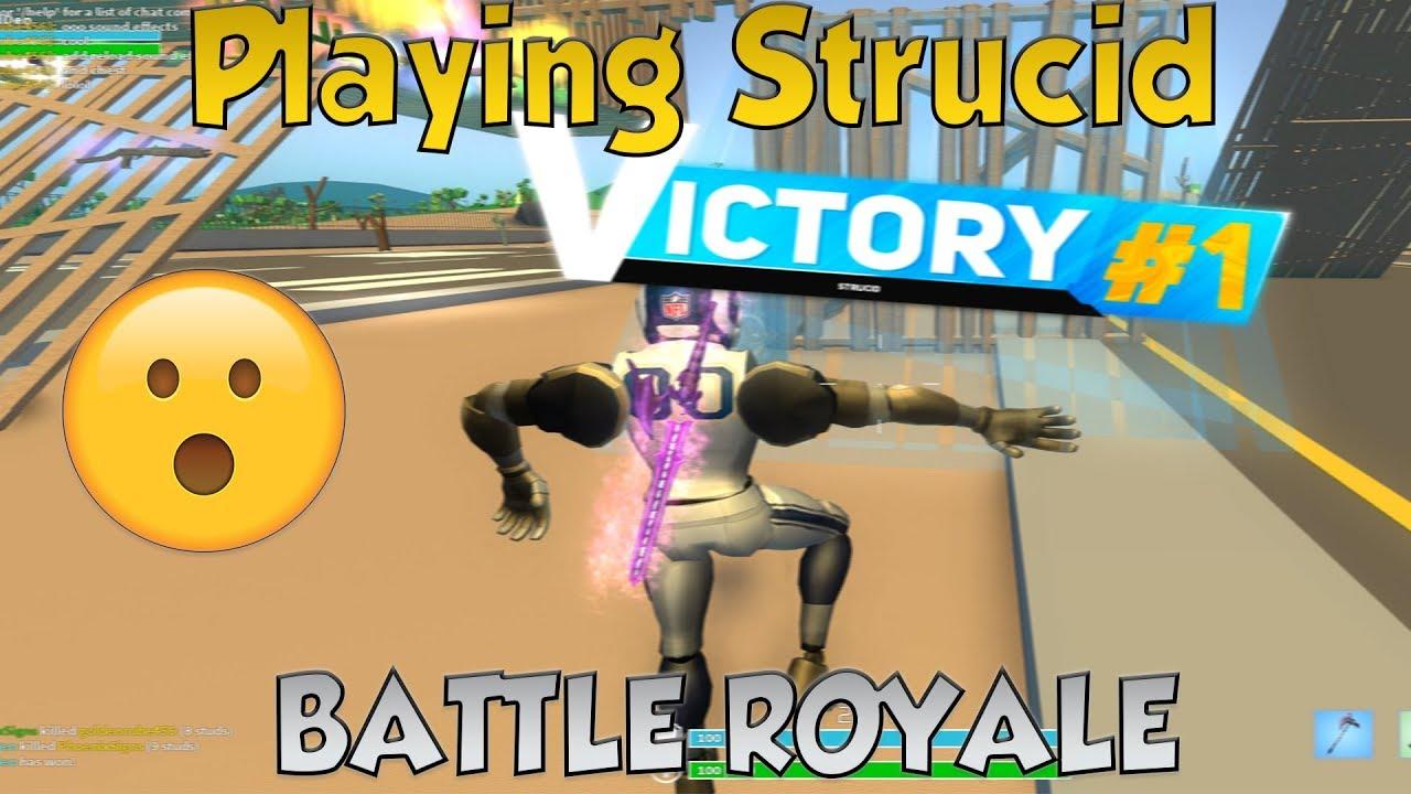*NEW*Strucid Battle royale win...(ROBLOX) - YouTube