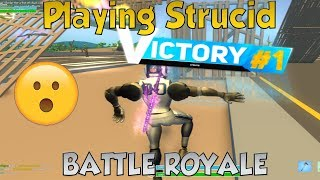 *NUEVO * Strucid Batalla real ganar... (ROBLOX)
