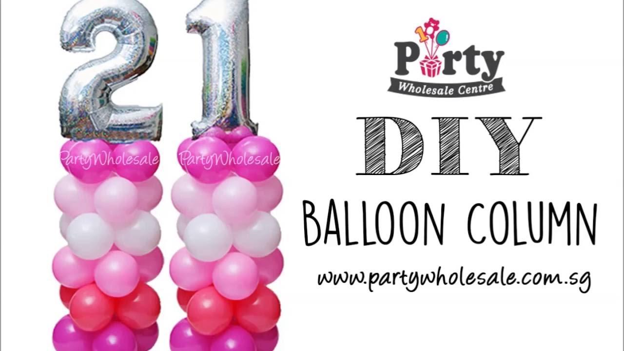 Diy balloon columns - Diy Number Balloon Column Tutorial Party Wholesale Centre