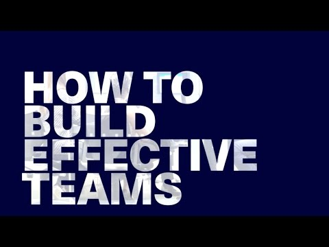 how to build an effective team Building a successful team is about more than finding a group of people with the right mix of professional skills over the course of interviewing over 500 leaders for corner office, i asked them.