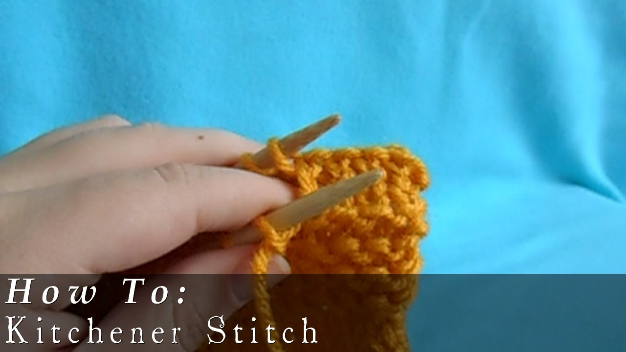 Kitchener Stitch | Seamless Sewing - YouTube