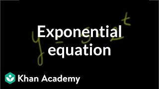 Repeat youtube video Solving exponential equation | Exponential and logarithmic functions | Algebra II | Khan Academy